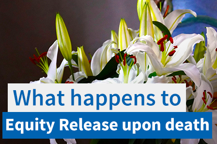 What happens to an equity release plan upon death?